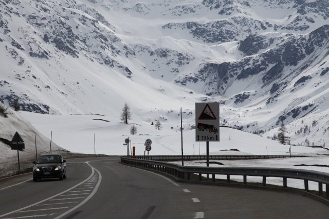 Abfahrt vom Simplon Pass