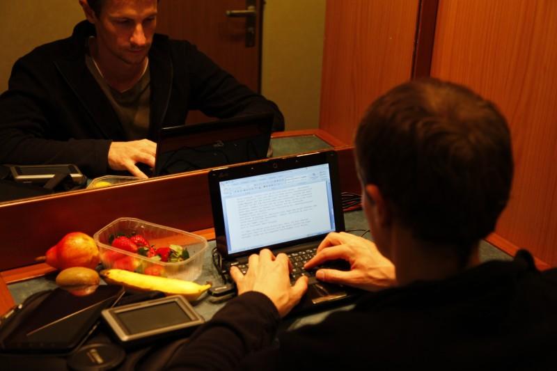 Bilder sortieren und Bericht schreiben in meiner Kabine