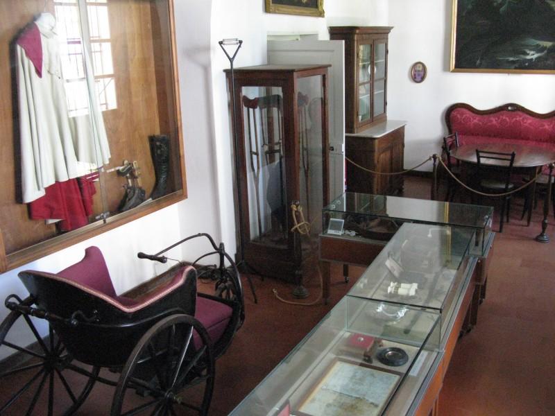 Foto von Garibaldis Rollstuhl. Bin gleich geschimpft worden - Fotografieren verboten!