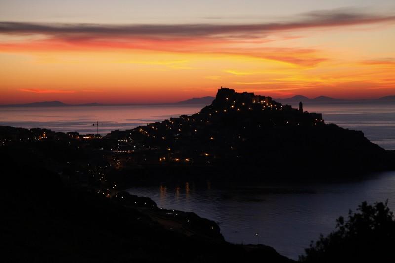 Castelsaro im Abendlicht