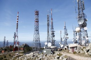 Auf dem Monte Limbara steht eine riesige Sendeanlage