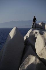 Capo Testa - Corsika im Hintergrund